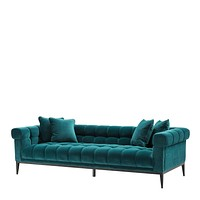 Sea Green Biscuit-Tufted Sofa | Eichholtz Aurelio