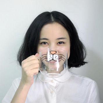 550ML Cat Kitty Boronsilicate Glass Coffee Cup Transparent Clear Water Mug Drinkware For Bar/Home