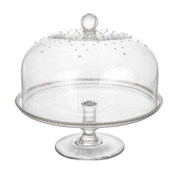 Classic Touch Domed Cake Stand with Swarovski Crystal