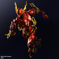 The Flash Action Figure Play Arts Kai Justice League Barry Allen PVC Toy 25cm Anime Movie Model The Flash Playarts Kai Superhero