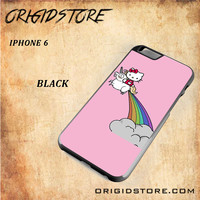 HELLO KITTY UNICORN Snap on 2D Black and White Or 3D Suitable With Image For Iphone 6 Case