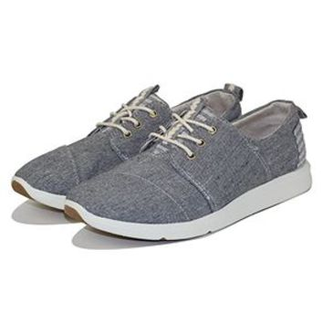 The Del Rey Sneaker in Grey Chambray Blocked