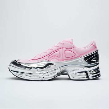 Pink & Silver adidas Originals Edition Ozweego Sneakers