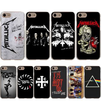 Metallica My Chemical Romance Pink Floyd Case for iPhone X 8 7 6S 6 Plus 5S SE 5