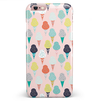 The All Over Pink Ice Cream Cone Pattern iPhone 6/6s or 6/6s Plus INK-Fuzed Case