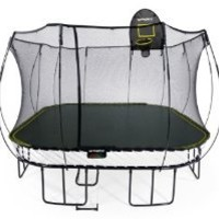 Springfree Trampoline - 13ft Jumbo Square With Basketball Hoop & Ladder