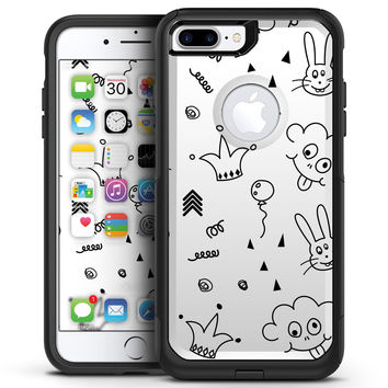 Joker, Clouds, and Balloon Doodle - iPhone 7 or 7 Plus Commuter Case Skin Kit