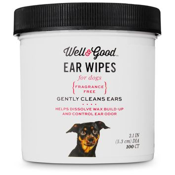 Well & Good Small Dog Ear Wipes | Petco