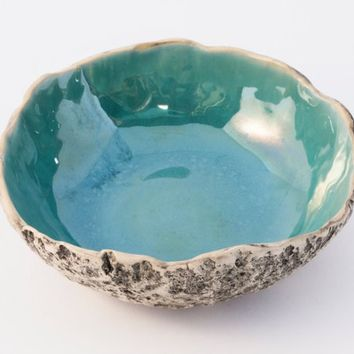 Turquoise soup bowl, Handmade ceramic soup bowl, Stoneware bowl, Salad bowl, Serving bowl, handmade bowl, Gifts