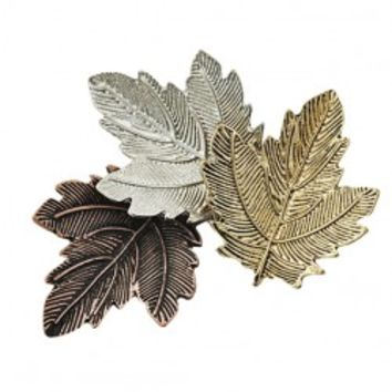 Three Colors Maple Leaf Brooch