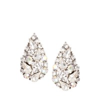 Love Rocks Rhinestone Pear Stud Earring