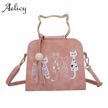 Aelicy Animal Messenger Bag Women Handbags Cat Rabbit Patter Pattern Shoulder Crossbody Bag Luxury Handbags Women Bags Designer