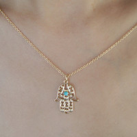 Palm Necklace, Hamsa Necklace,Charm Jewelry.Best Chosen Gift