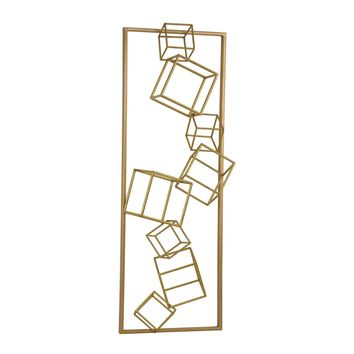 Angular Study Wall Décor Gold