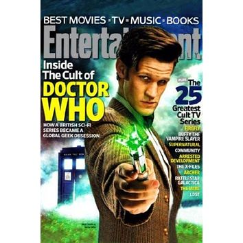 Dr Who Entertainment Weekly Cover poster Metal Sign Wall Art 8in x 12in