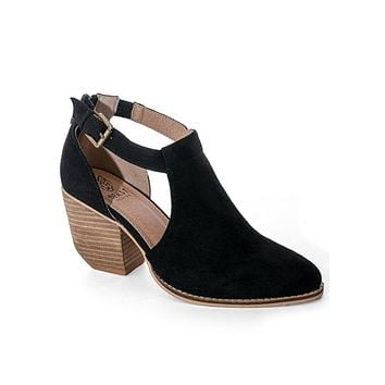 Black Carly Open Side Booties