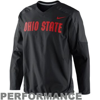 Nike Ohio State Buckeyes Fourth Down Performance Pullover Wind Jacket - Black