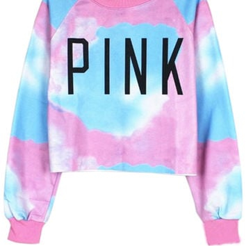 Dip-dyeing Copped Sweatshirt