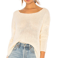 Lovers + Friends Sheer Sweater in Cream