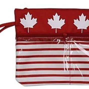 Swimsuit Sack Wet Beach Pouch Double Zippered Front Pockets WaterproofSummer