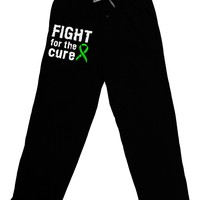 Fight for the Cure - Lime Green Ribbon Lyme Disease Adult Lounge Pants
