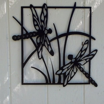 Dragonfly Scene Metal Wall Art