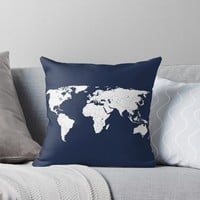 'WORLDWIDE' Throw Pillow by OBJETDART
