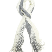 Knitted Overlay Fringe Scarf - WetSeal