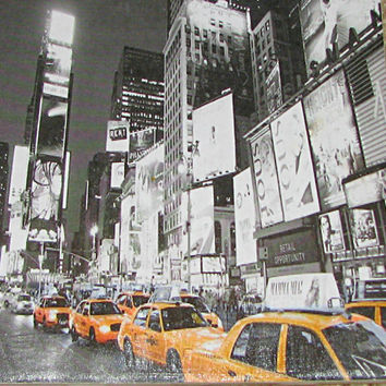 New York City Time Square Ceramic Photo Tile Plaque Wall Hanging 6 x 6