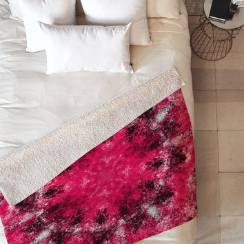 Caleb Troy Electric Pink Whirlpool Fleece Throw Blanket