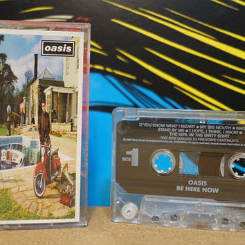 Be Here Now by Oasis Vintage Cassette Tape