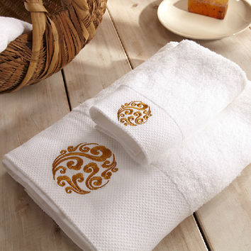 Bamboo Bath Towel 140*70CM+2pcs Small Towels, 600G Five Star 100% Cotton 16S Spiral Satin Embroidered Beach Towel Set Brand