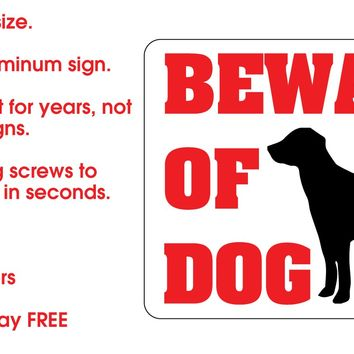 Warning Sign - BEWARE OF DOG Metal Sign