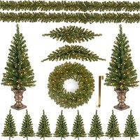 National Tree North Valley Christmas Spruce Assortment with Lights