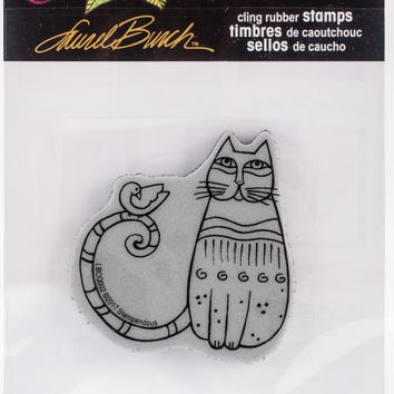 Stampendous Laurel Burch Cling Stamp -Cat & Feathered Friends