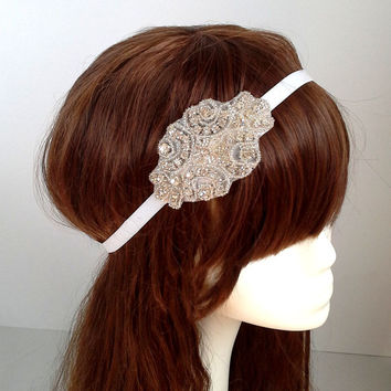 Wedding headpiece, headband , Rhinestone Headband, Wedding Headband, Bridal Headband, Bridal Headpiece, Rhinestone