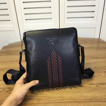 Prada Men New Style Leather Inclined Shoulder Bag