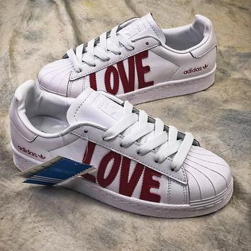 Adidas Superstar 80s Hh W Love Aq6168 White Red Shoes Sale