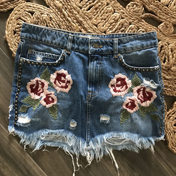 Wild Rose Embroidered Mini