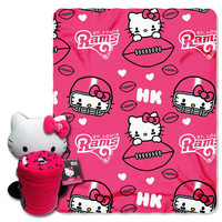 St. Louis Rams NFL Hello Kitty with Throw Combo