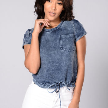 Savannah Top - Denim