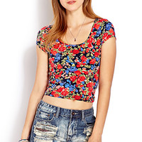 Painted Floral Crop Top