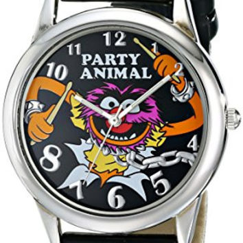 Muppets Women's  MU1007 Animal Black Dial Black Strap Watch