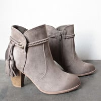 close to my heart western inspired booties - taupe