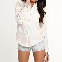 Kendall & Kylie Tie Dye Chambray Shirt at PacSun.com