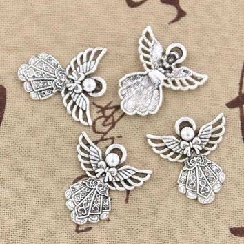 15pcs Charms Guardian Angel 26*23mm Antique Pendant Fitvintage Tibetan Silverdiy For Bracelet Necklace