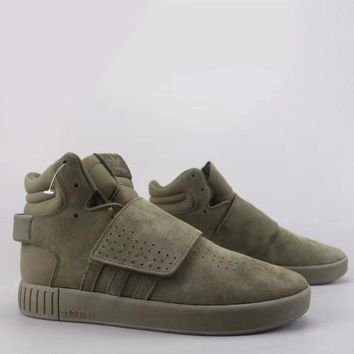 Adidas Tubular Invader Strap Fashion Casual High-Top Old Skool Shoes-9