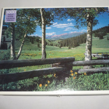 Grey's Basin Wyoming Scenic Picture Puzzle 1000 Piece Jigsaw Puzzle