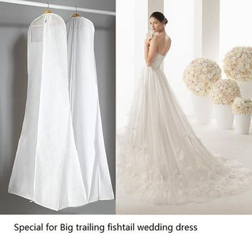 180cm Dropped Wedding Dress Nonwoven Dust Hood  Mermaid Trailing Wedding Gown Cover Clothes Dust Jacket