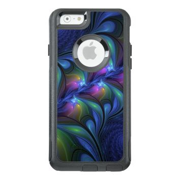 Colorful Luminous Abstract Blue Pink Green Fractal OtterBox iPhone 6/6s Case